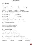 bộ đề cấp tốc ôn luyện môn vật lí 2011 mới và hãy tất cả đầu có đáp án phần 7