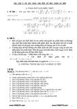 Các dạng bài tập đại số lớp 9 và các lưu ý khi giải - Phần 1