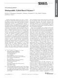 Polyme phân hủy sinh học từ Xylitol