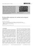Ung thư polyester phân hủy sinh học trong dược phẩm và môi trường