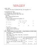 Giáo án lớp 1 môn Toán: Tên Bài Dạy : LUYỆN TẬP Cộng trừ trong phạm vi 8