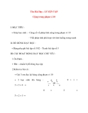Giáo án lớp 1 môn Toán: Tên Bài Dạy : LUYỆN TẬP Cộng trong phạm vi 10