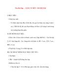 Giáo án lớp 1 môn Toán: Tên Bài Dạy : XĂNG TI MÉT - ĐO ĐỘ DÀI