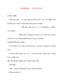 Giáo án lớp 1 môn Toán: Tên Bài Dạy : CÁC SỐ 1, 2, 3