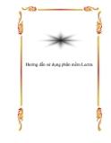 Hướng dẫn sử dụng phần mềm Lectra