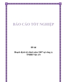 Đề tài: Hoạch định tài chính năm 2007 tại công ty TNHH Việt AN