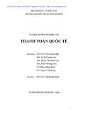 THANH TOÁN QUỐC TẾ - PGS. TS TRẦN HOÀNG NGÂN - 1