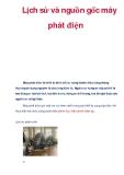 Tài liệu: Lịch sử và nguồn gốc máy phát điện