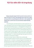 Vật liệu siêu dẫn và ứng dụng