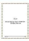 Đề tài: Kế toán thuế tại công ty TNHH XD – TM Điện Toàn Cầu