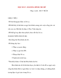 Giáo án âm nhạc lớp 1: HỌC HÁT : BÀI HÒA BÌNH CHO BÉ