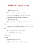 Giáo án lớp 1 môn Tiếng Việt :Tên Bài Dạy : Học vần ng ngh