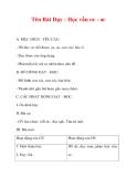Giáo án lớp 1 môn Tiếng Việt :Tên Bài Dạy : Học vần oc - ac