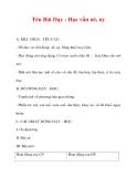 Giáo án lớp 1 môn Tiếng Việt :Tên Bài Dạy : Học vần uê, uy