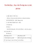 Giáo án lớp 1 môn Tiếng Việt :Tên Bài Dạy : Học vần Ôn tập âm và chữ ghi âm