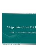 Nhập môn Cơ sở Dữ liệu ( Ths. Phan Võ Minh Thắng ) - Phần 2