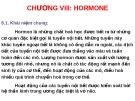CHƯƠNG VIII: HORMONE