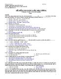 Đề kiểm tra pháp luật đại cương - 3