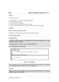 Bài 9 Quản trị dữ liệu trong SQL Server