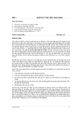 Bài 2 Thiết Kế CSDL (Bài Thực hành)