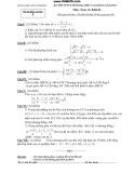 Đề thi thử môn toán khối A năm 2011 - đề số 10