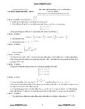 Đề thi thử môn toán khối A năm 2011 - đề số 5
