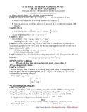 Đề thi thử đại học môn toán khối A năn 2011 - đề 1