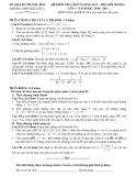Đề thi thử đại học môn toán khối D năm 2010 trường Hậu Lộc