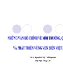 Những vấn đề chính về môi trường , quản lý và phát triển vùng ven biển Việt Nam