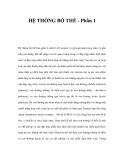 HỆ THỐNG BỔ THỂ (Phần 1)