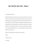 HỆ THỐNG BỔ THỂ (Phần 2)