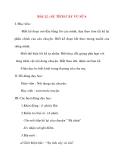 Giáo án lớp 2 môn Kể Chuyện: BÀI 12 : SỰ TÍCH CÂY VÚ SỮA