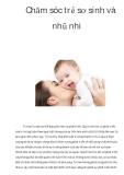 Chăm sóc trẻ sơ sinh và nhũ nhi