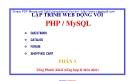 LẬP TRÌNH WEB ĐỘNG VỚI PHP/ MYSQL - PHẦN 3 - TỐNG PHƯỚC KHẢI - 1