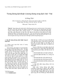 """Báo cáo nghiên cứu khoa học: """"Tương đương dịch thuật và tương đương trong dịch Anh - Việt"""""""