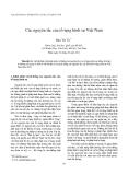 """Báo cáo nghiên cứu khoa học: """"Các nguyên tắc của tố tụng hình sự Việt Nam"""""""