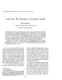 """Báo cáo nghiên cứu khoa học: """"Làng Việt – đối tượng nghiên cứu của khu vực học"""""""