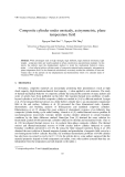 "Báo cáo nghiên cứu khoa học: ""Composite cylinder under unsteady, axisymmetric, plane temperature field"""