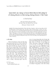 """Báo cáo nghiên cứu khoa học: """" Quá trình xây dựng và hoàn thiện khuôn khổ pháp lý về chứng khoán và thị trường chứng khoán ở Việt Nam"""""""