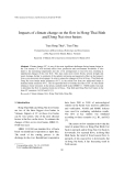 Báo cáo nghiên cứu khoa học: Impacts of climate change on the flow in Hong-Thai Binh and Dong Nai river basins