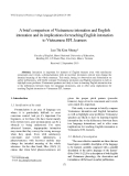 "Báo cáo nghiên cứu khoa học: "" A brief comparison of Vietnamese intonation and English intonation and its implications for teaching English intonation to Vietnamese EFL learners"""
