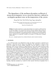 "Báo cáo nghiên cứu khoa học: ""The dependence of the nonlinear absorption coefficient of strong electromagnetic waves caused by electrons confined in rectangular quantum wires on the temperature of the system"""