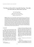 """Báo cáo nghiên cứu khoa học: """" Tác động của Dioxin đối với gia đình Việt Nam - Nạn nhân của chiến tranh sau chiến tranh Việt Nam"""""""