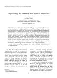 "Báo cáo nghiên cứu khoa học: ""English today and tomorrow from a critical perspective"""