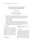 """Báo cáo nghiên cứu khoa học: """"Về các biện pháp xử lý hành chính khác: Thực trạng và định hướng hoàn thiện"""""""