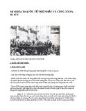 Sử 10-BÀI 38:QUỐC TẾ THỨ NHẤT VÀ CÔNG XÃ PARI 1871