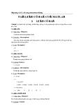 Ứng dụng Matlab trong điều khiển tự động - Chương 2