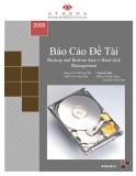 Báo Cáo Đề Tài:  Backup and Restore data + Hard disk Management