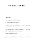 SUY HÔ HẤP CẤP – Phần 1