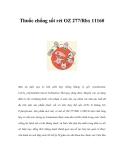 Thuốc chống sốt rét OZ 277/Rbx 11160